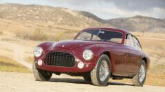 Red 1951 Ferrari 212 Export Berlinetta