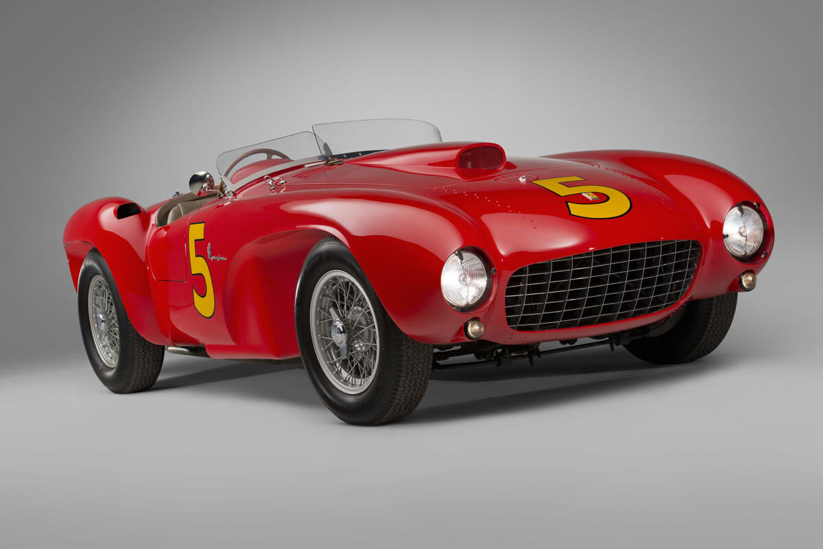 Red 1953 Ferrari 375 MM Spider