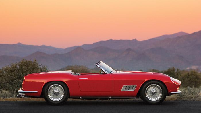 Red Ferrari 250 GT LWB California Spider by Scaglietti