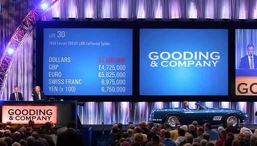 Blue 1958 Ferrari 250 GT LWB California Spider