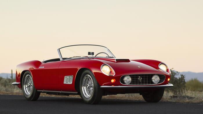 Red 1958 Ferrari 250 GT LWB California Spider sold at Scottsdale 2014