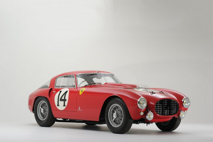 Red 1953 Ferrari 340/375 MM Berlinetta 'Competizione'