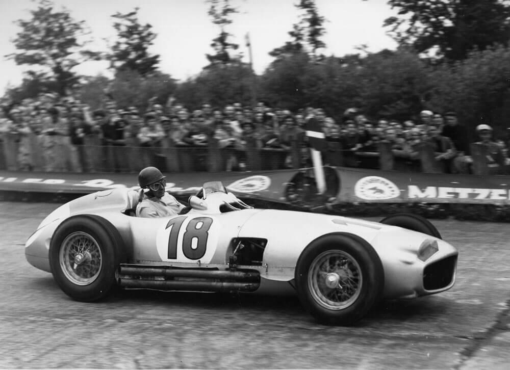 Fangio Driving a Mercedes W1969R