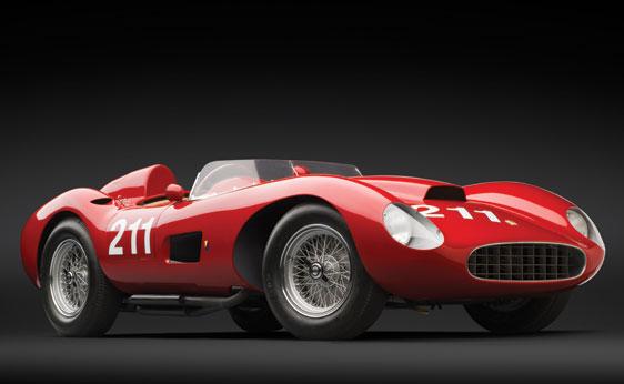 Red 1957 Ferrari 625 TRC