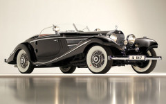 Black 1936 Mercedes-Benz 540 K Special Roadster