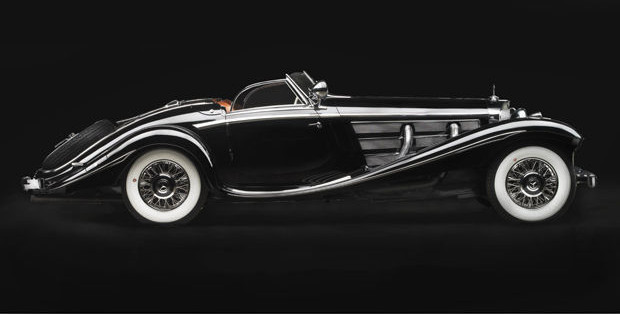 Black 1936 Mercedes 540K