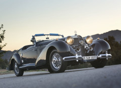 Black 1939 Mercedes-Benz 540K Special Roadster