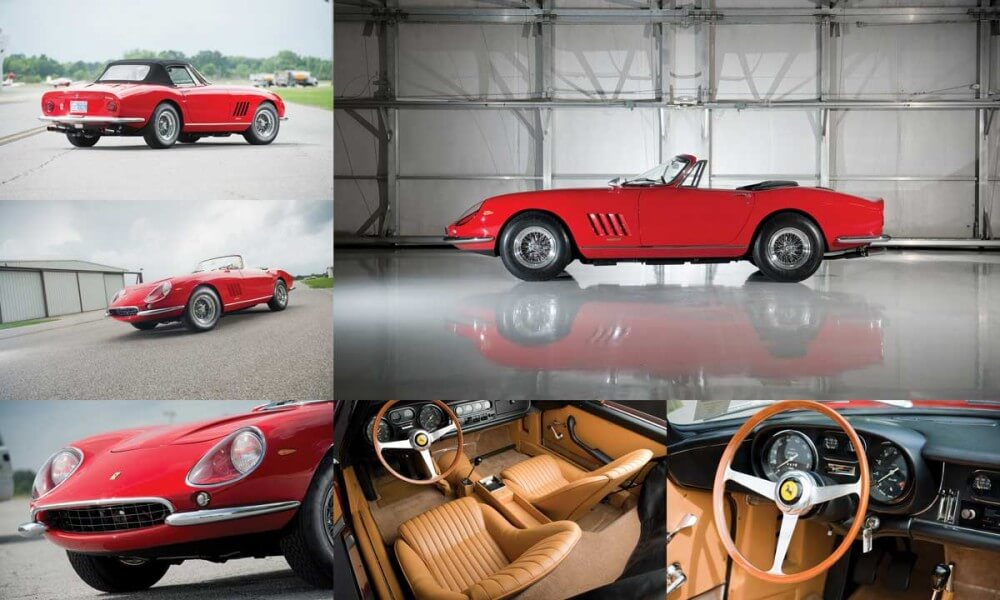 Exterior and interior of a 1967 Ferrari 275 GTB Spider