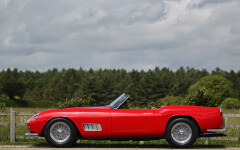 Red 1957 Ferrari 250GT California Spider LWB