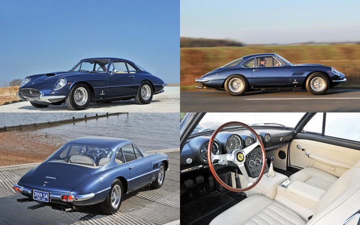 Blue 1962 Ferrari 400 Superamerica SWB Coupé Aerodinamico
