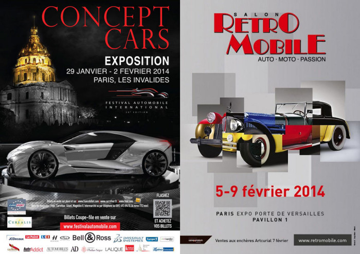 Posters for 2014 Retromobile and Concept Cars