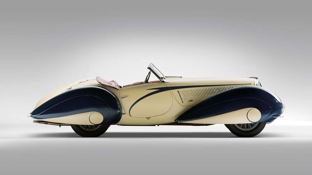 1939 Delahaye 135 Competition Court Torpedo Roadster by Figoni et Falaschi