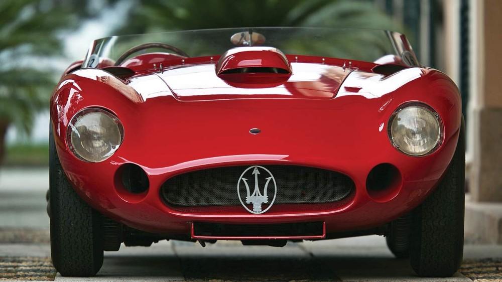 Red 1956 Maserati 450S Prototype by Fantuzzi
