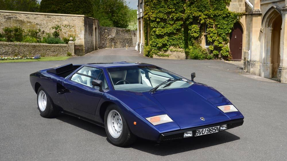 Blue 1975 Lamborghini Countach LP400 Persiscopio Coupé