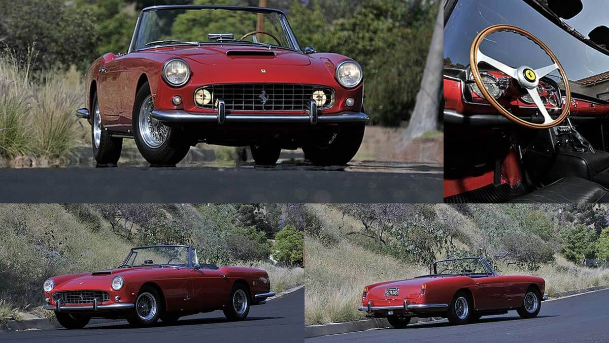 1961 Ferrari 250 Series II Cabriolet collage
