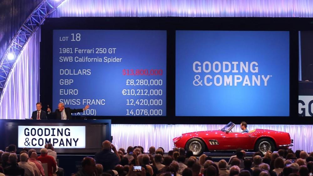 1961 Ferrari 250 GT SWB California Spider - $15,180,000