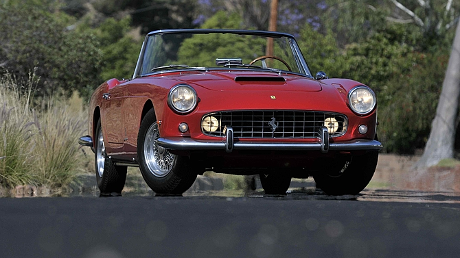 1961 Ferrari 250 Series II Cabriolet in red