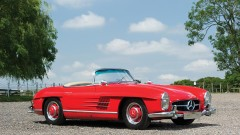 Red 1958 Mercedes-Benz 300 SL Roadster