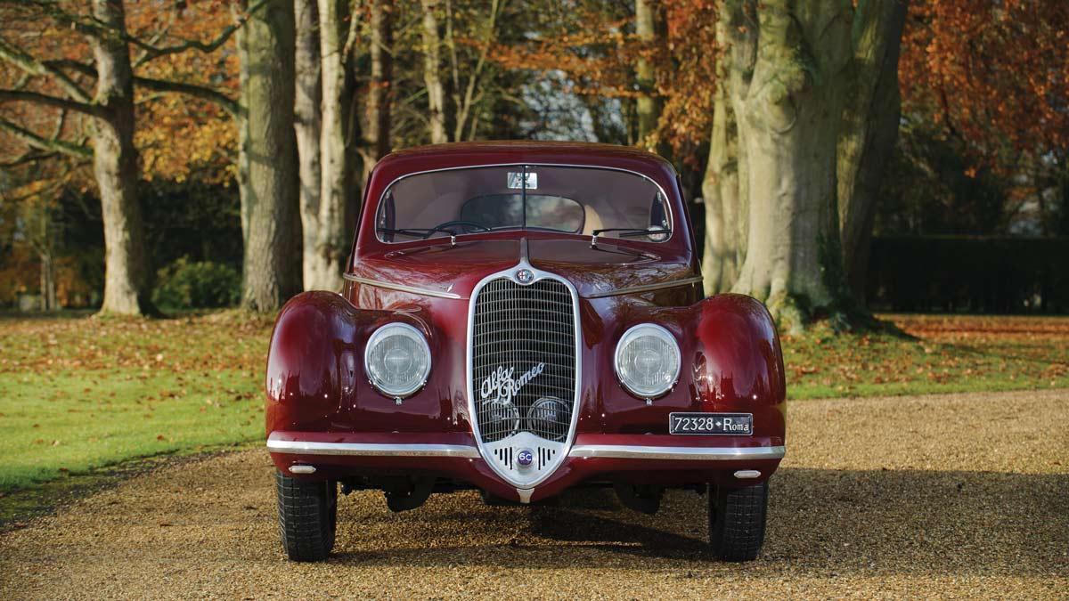 1939 Alfa Romeo 6C2500 Sport Berlinetta by Touring Front View