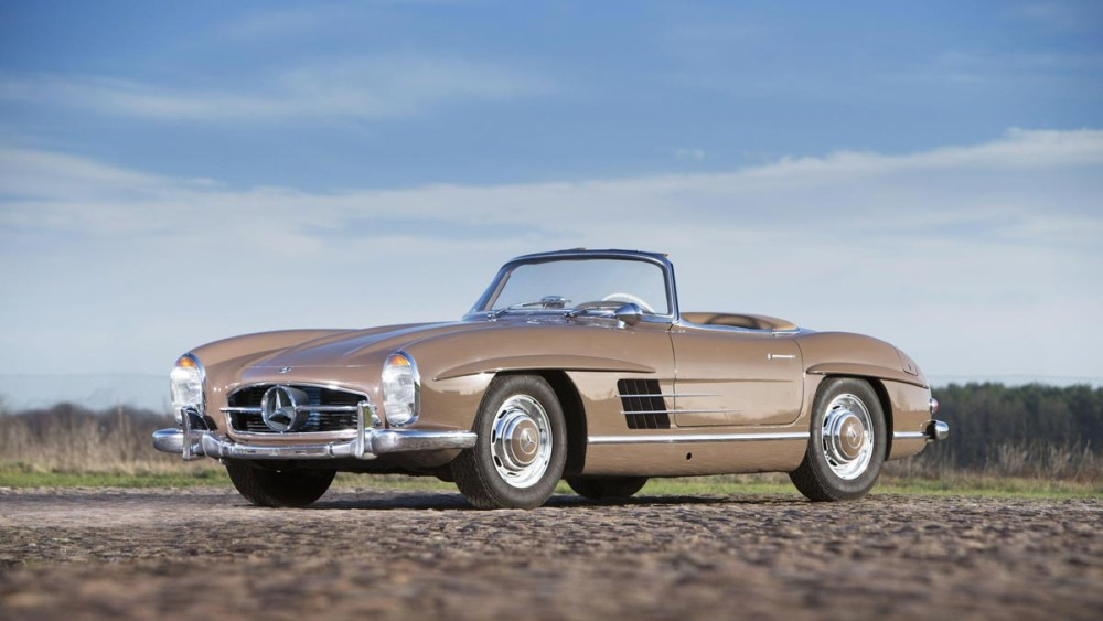 Brown 1960 Mercedes-Benz 300 SL Roadster