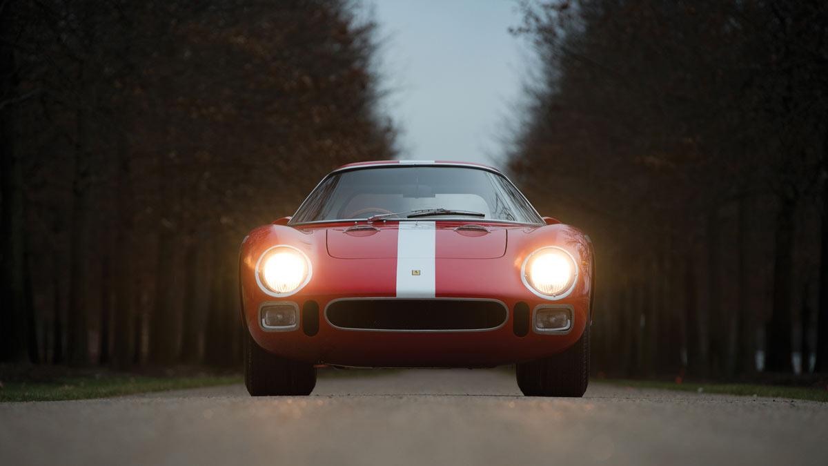 1964 Ferrari 250 LM by Scaglietti Front, lights on