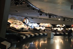 Silver Arrows in Mercedes Benz Museum, Stuttgart