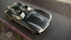 1955 Jaguar D-Type  above