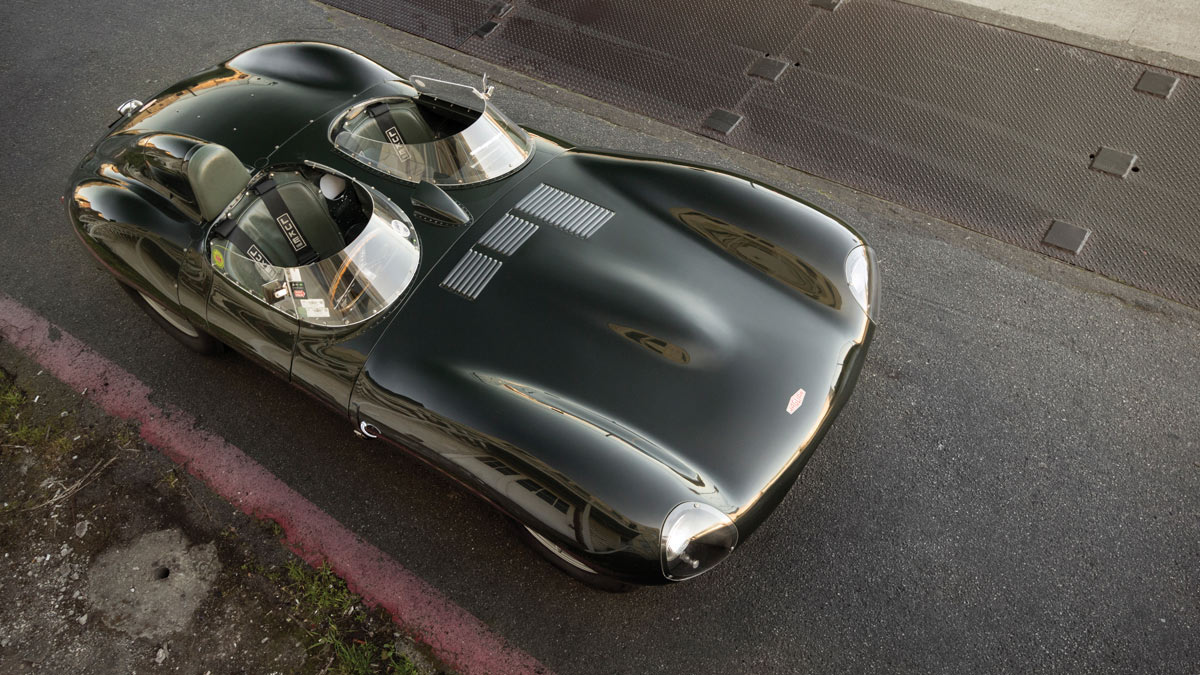 1955 Jaguar D-Type  above