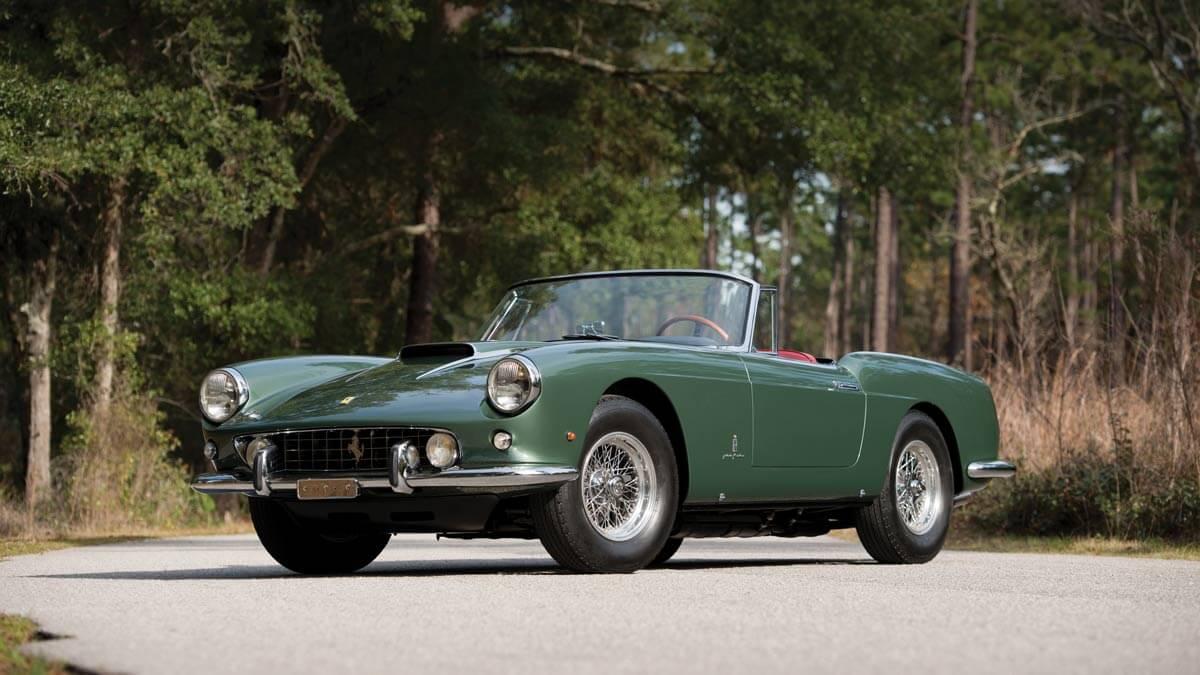 Green 1960 Ferrari 400 Superamerica SWB Cabriolet
