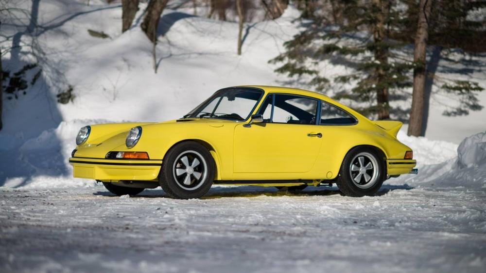 Yellow 1973 Porsche 911 Carrera 2.7 RS Lightweight