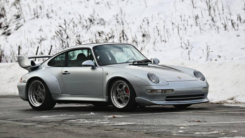 Silver 1996 Porsche 993 GT2