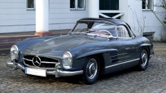 Graphite Grey 1957 Mercedes Benz 300 SL Roadster