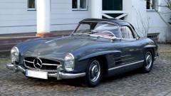 Graphite Grey 1957 Mercedes Benz 300 SL Roadster