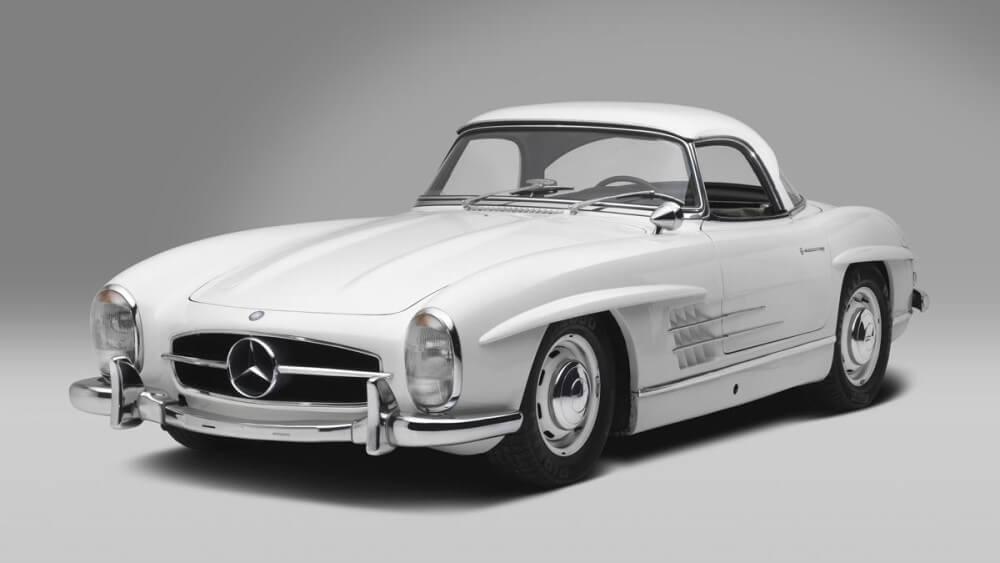 White 1961 Mercedes Benz 300 SL Roadster