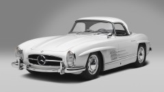 White 1961 Mercedes Benz 300 SL Roadster