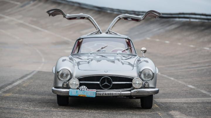 1955 Mercedes Benz 300 SL Sportabteilung Gullwing open doors