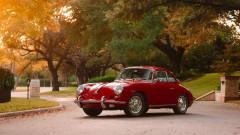 Red 1962 Porsche 356 Carrera 2 GS Coupe