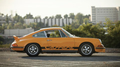Yellow 1973 Porsche 911 Carrera RS 2.7 Touring