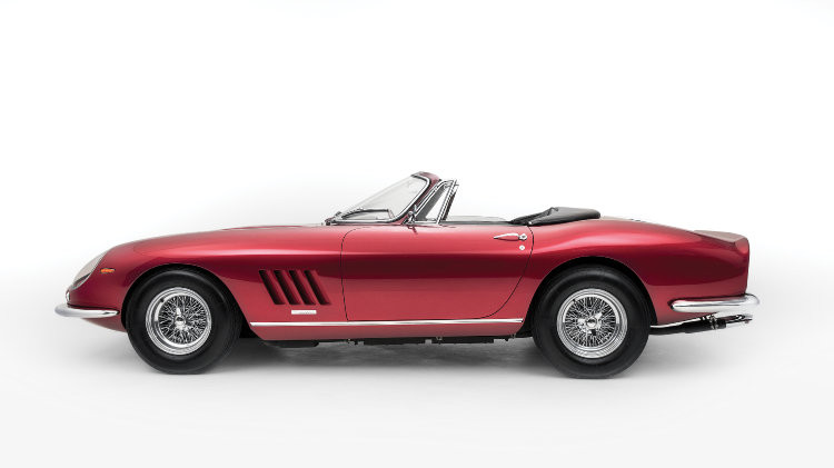 1968 Ferrari 275 GTS/4 NART Spider by Scaglietti side