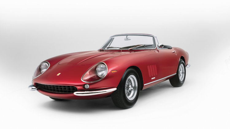 1968 Ferrari 275 GTS/4 NART Spider by Scaglietti three quarter