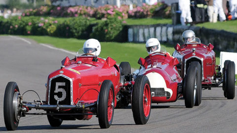 1934 Alfa Romeo Tipo B P3 on the track