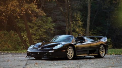 Black 1995 Ferrari F50