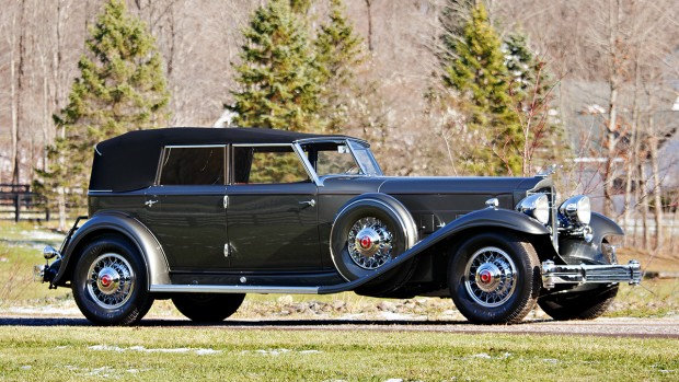 1932 Packard Twin Six 906 Individual Custom Convertible Sedan