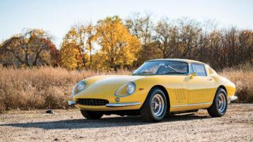 Yellow 1966 Ferrari 275 GTB/6C by Scaglietti