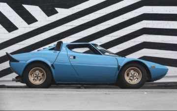 Blue 1975 Lancia Stratos HF Stradale