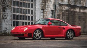 Red 1987 Porsche 959 'Komfort'