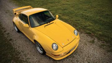 Yellow 1996 Porsche 911 GT2