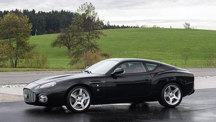 Black 2003 Aston Martin DB 7 Vantage Zagato