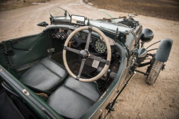 "Interior of the 1928 Bentley 4½-Litre Le Mans Sports ""Bobtail"""
