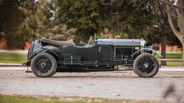 """1928 Bentley 4½-Litre Le Mans Sports """"Bobtail"""" Side Profile"""
